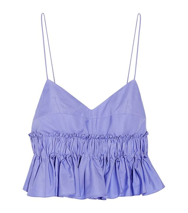 Tod's Cropped Cotton Poplin Top