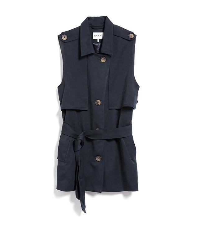 Ganni Brown Waistcoat
