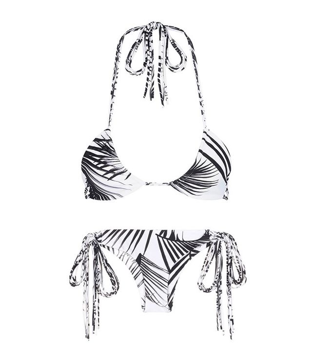 MIKOH Kirra Palm Leaf Print Triangle Bikini Top and Bottom