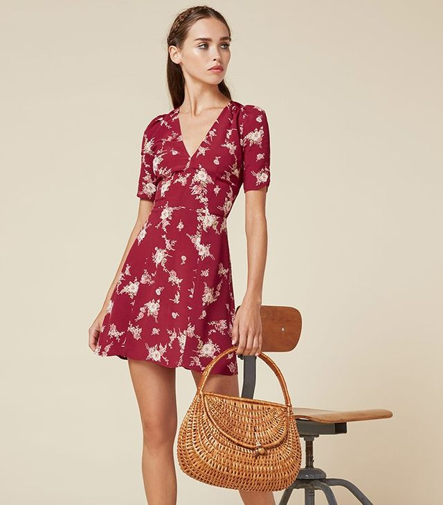 Reformation Rhoda Dress in Cardinal