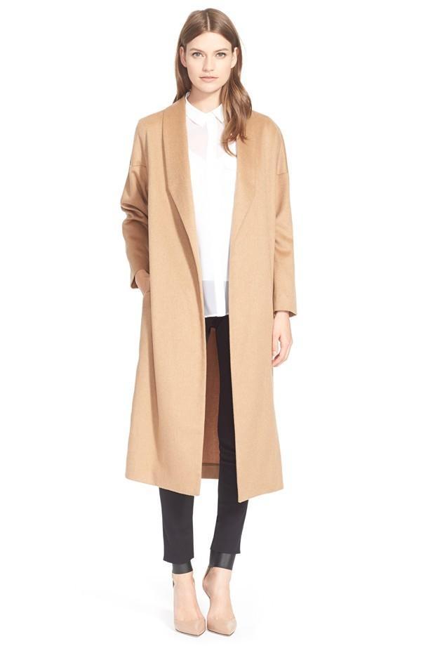AYR The Robe Camel Hair Maxi Coat