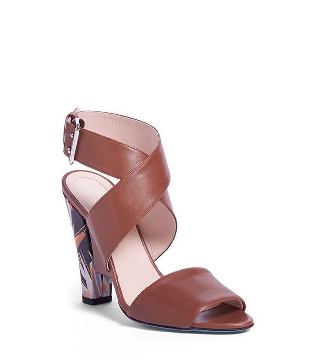 Fendi Beyond Crisscross Strap Sandals