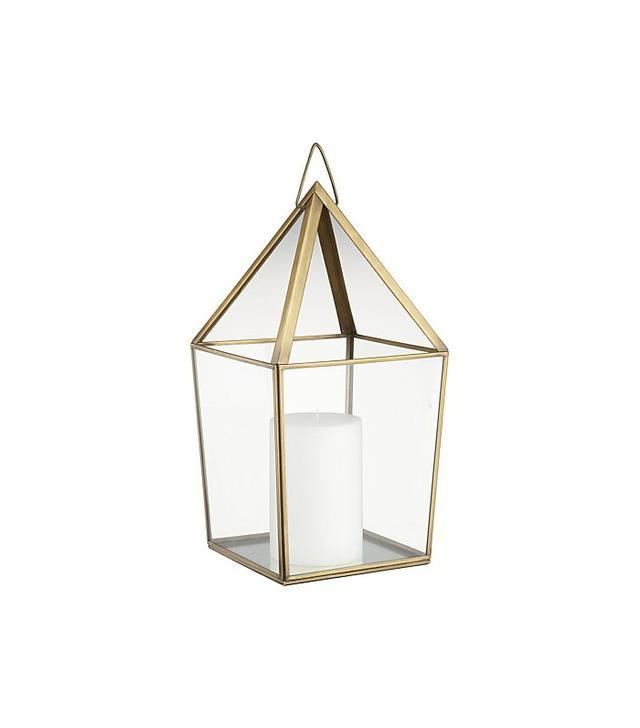 Crate and Barrel Lillian Brass Metal Lantern