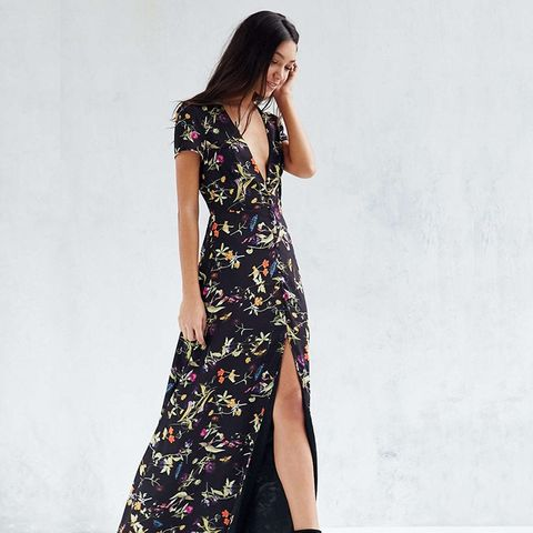 Open-Back Maxi Tea Dress