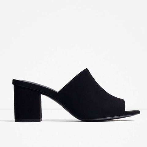 High-Heel Backless Sandals