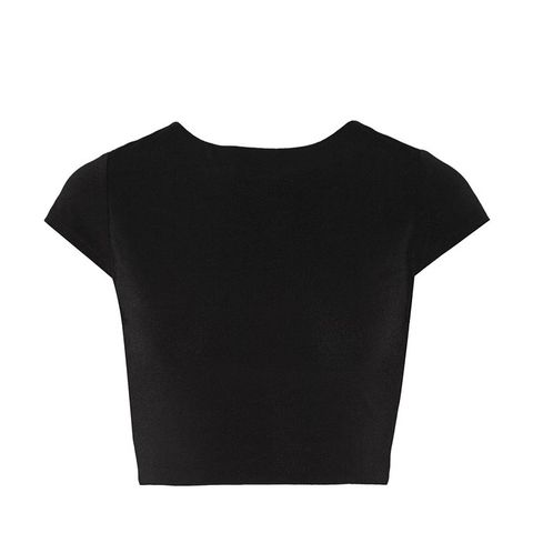 Monika Cropped Cutout Stretch-Jersey Top