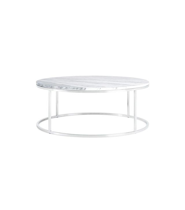 Design Within Reach Round Marble Coffee Table