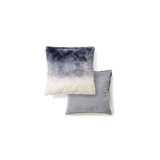 Kmart Ombre Faux Fur Cushion - Grey