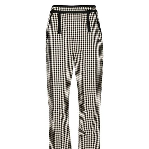 Gingham Cropped Trousers