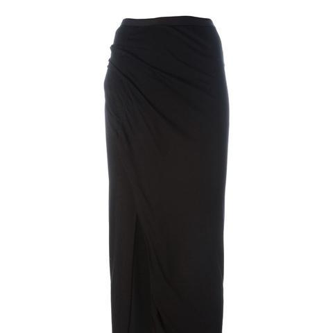Side Slit Jersey Skirt