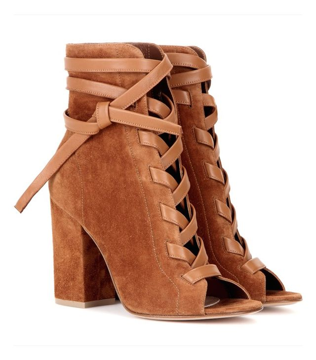 Gianvito Rossi Brooklyn Suede Ankle Boots