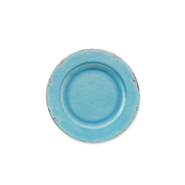 Williams-Sonoma Rustic Melamine Dinner Plate, Turquoise