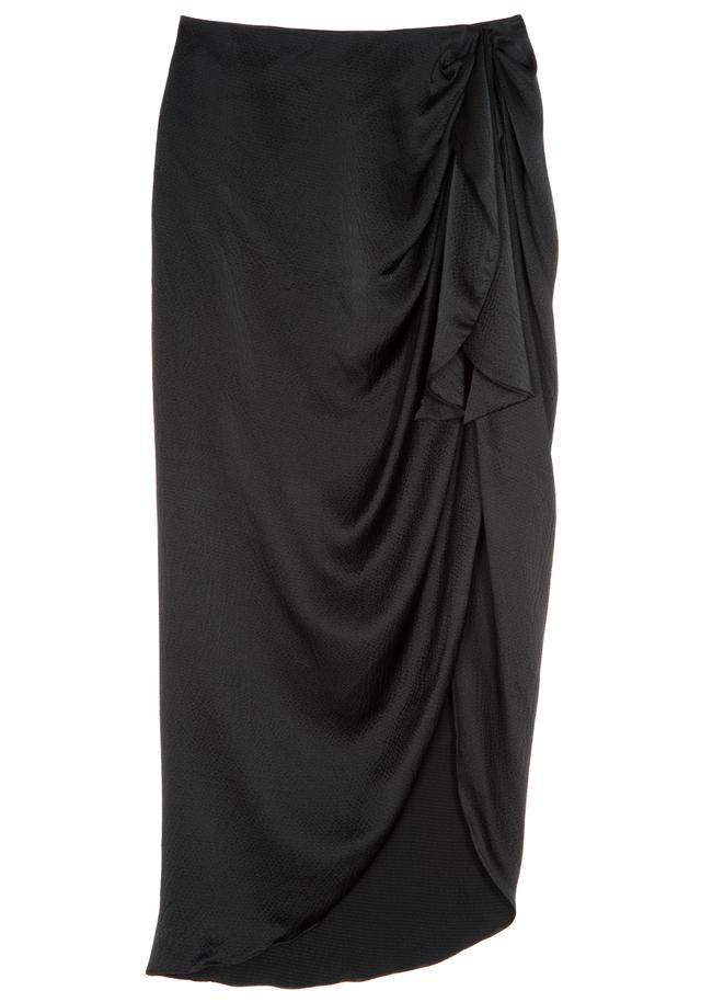 Kendall  + Kylie Waist-Tie Silk Midi Skirt