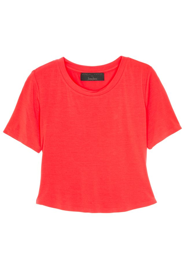Kendall + Kylie Short-Sleeve Cropped T-Shirt