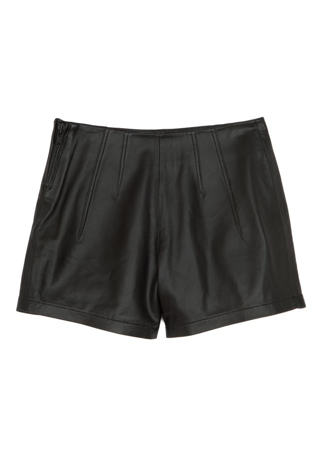 Kendall + Kylie Mid-Rise Leather Shorts