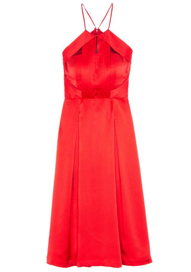 Kendall + Kylie Sleeveless Pleated-Bodice Dress