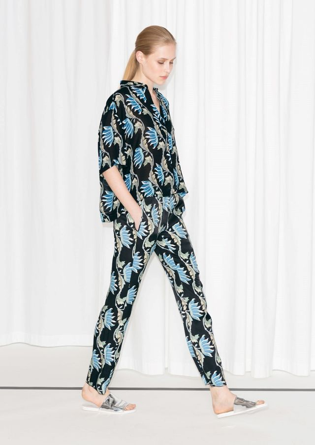 & Other Stories Water Lily Tailored Crop Trousers