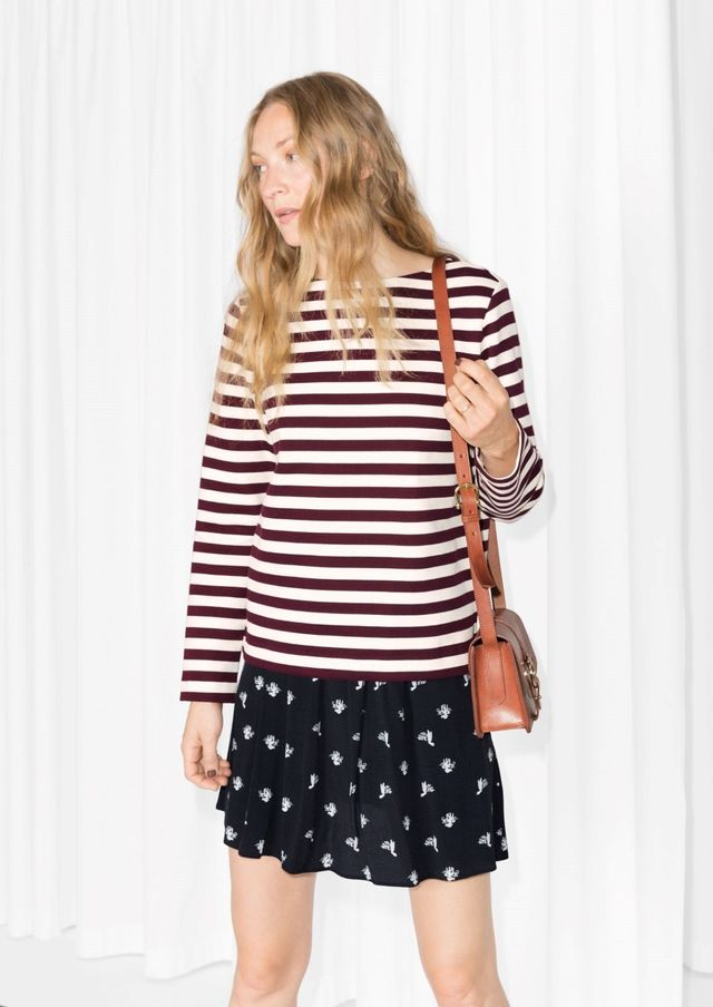 & Other Stories Striped Cotton Top