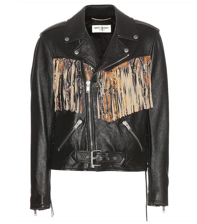 Saint Laurent Fringed Leather Jacket