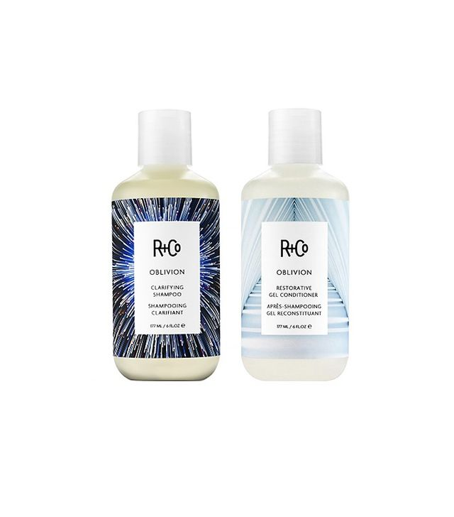 R & Co Clarifying Shampoo ($24) and Restorative Gel Conditioner