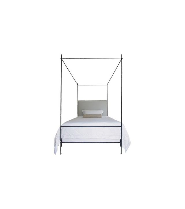 Tara Shaw Maison Louis XVI Iron Upholstered Canopy Bed