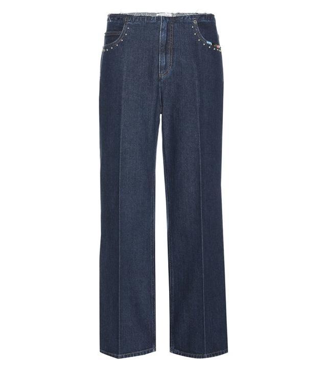Sonia Rykiel Cropped Wide-Leg Jeans