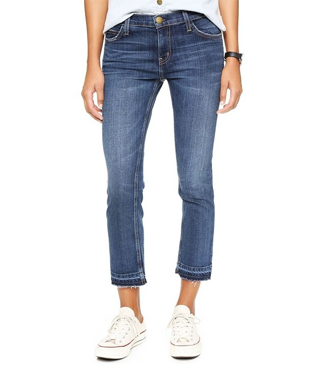 Current/Elliot Cropped Straight Leg Jeans