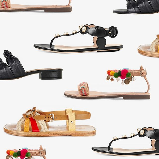 The Season's Coolest Flat Sandals
