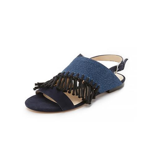 Martini Fringe Flat Sandals