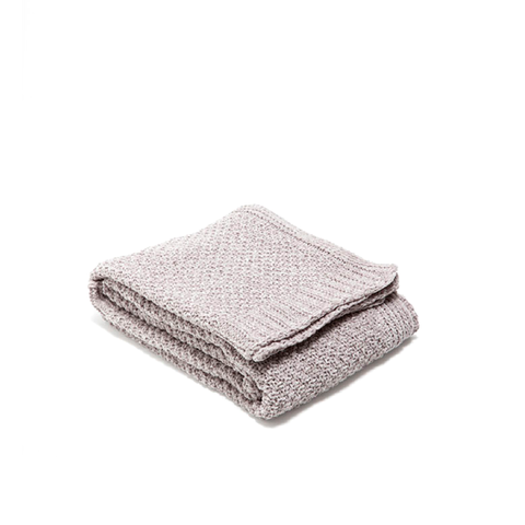 Gray Chenille Throw