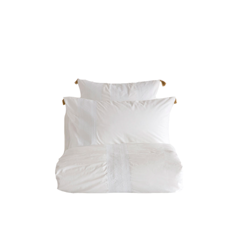 Embroidered Egyptian Percale Bedding