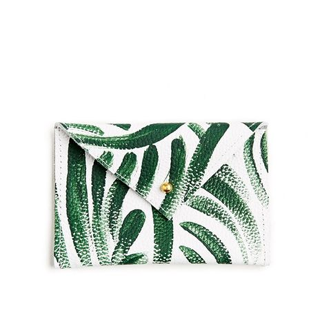 Palm Frond Leather Envelope