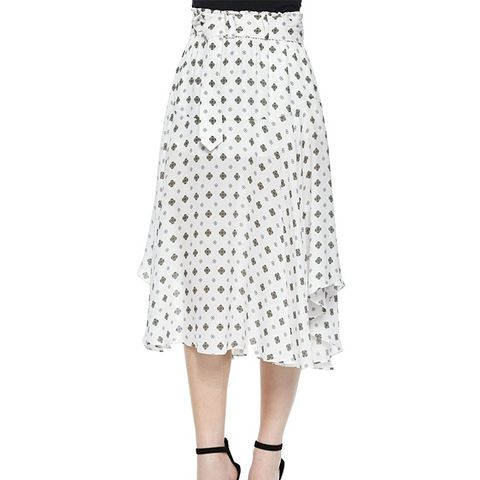 Medallion-Print Skirt