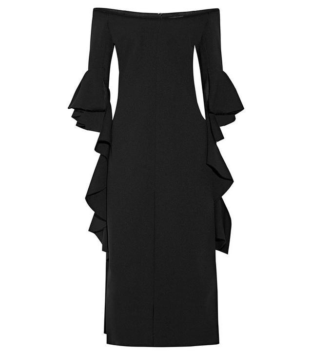 Ellery Precocious Off-the-Shoulder Midi Dress