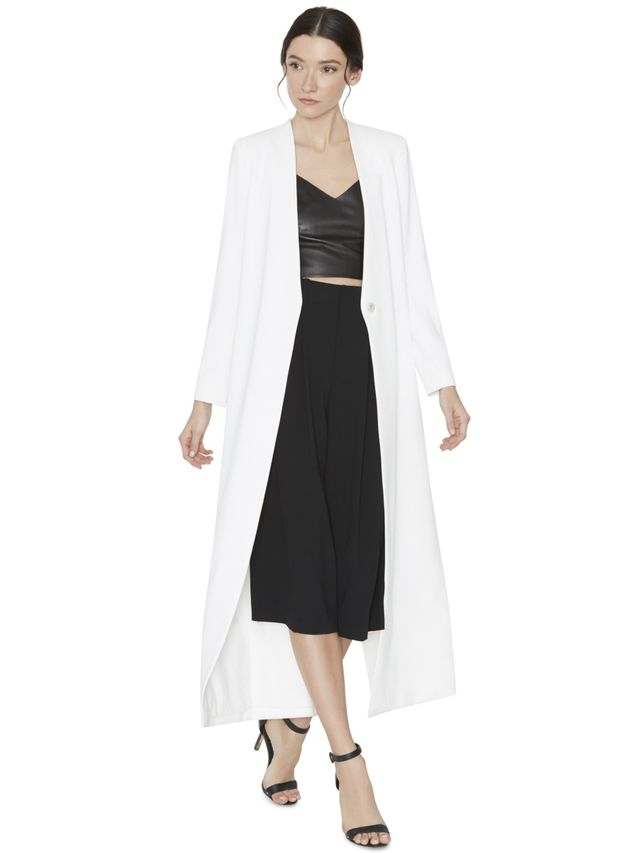 Alice + Olivia Desmond Cross Back Long Coat