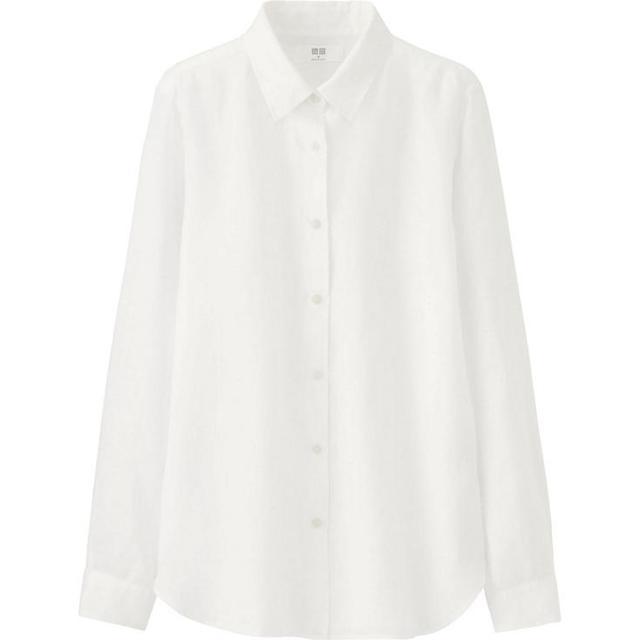 Uniqlo Premium Linen Long Sleeve Shirt