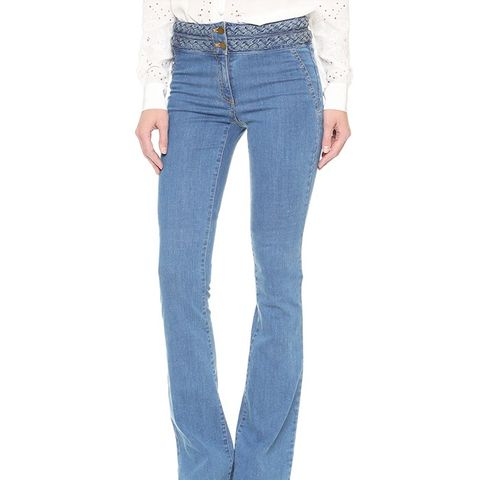 Biscayne Braided High Waisted Jeans
