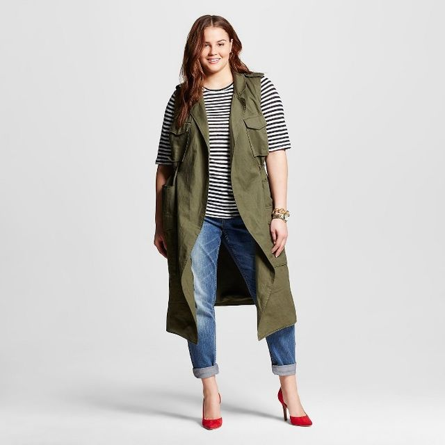 Who What Wear Plus Size Trench Vest
