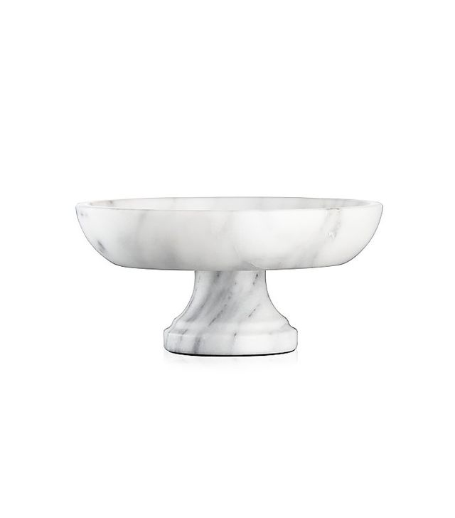 Crate & Barrel French Kitchen Marble Fruit Bowl