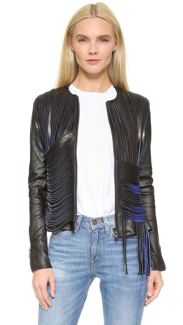 Nour Hammour Retrograde Leather Jacket