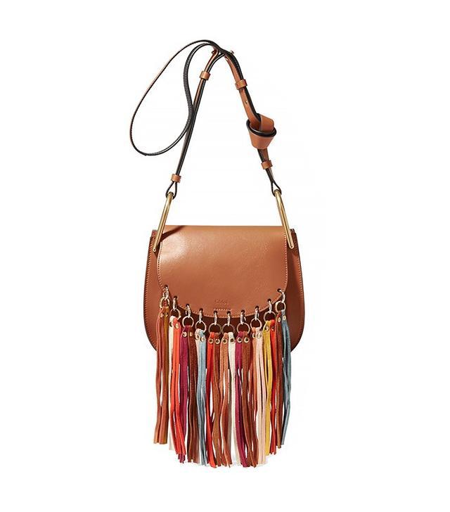 Chloé Hudson Tasseled Leather Shoulder Bag