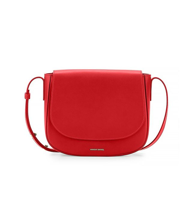 Mansur Gavriel Calf Leather Crossbody Bag