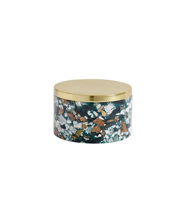 Nordal Marble Chips Brass Jar