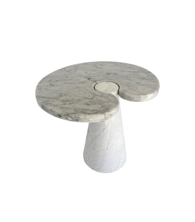 Angelo Mangiarotti Italian Carrara Marble Low Side Table