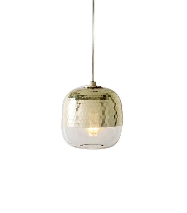 West Elm Metallic Honeycomb Glass Pendant - 22 Stunning Pendants To Light Up Your Imagination MyDomaine