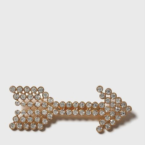 Rhinestone Arrow Brooch
