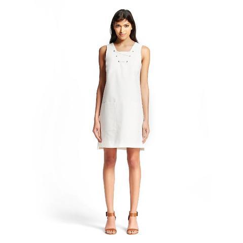 Lace-Up Shift Dress