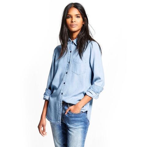 Frayed-Hem Shirt