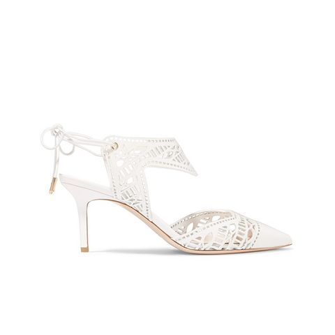 Leda Laser-Cut Leather Pumps