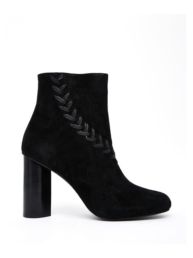 Senso Sara Heeled Ankle Boots in Black Suede